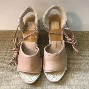Dolce Vita strap ankle wedge heel sandal